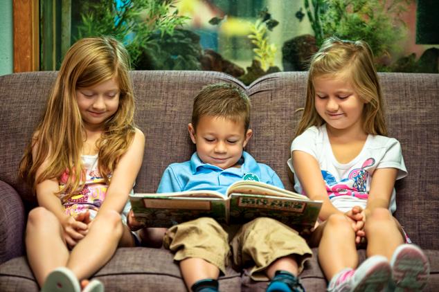 Season of Giving Book reading children