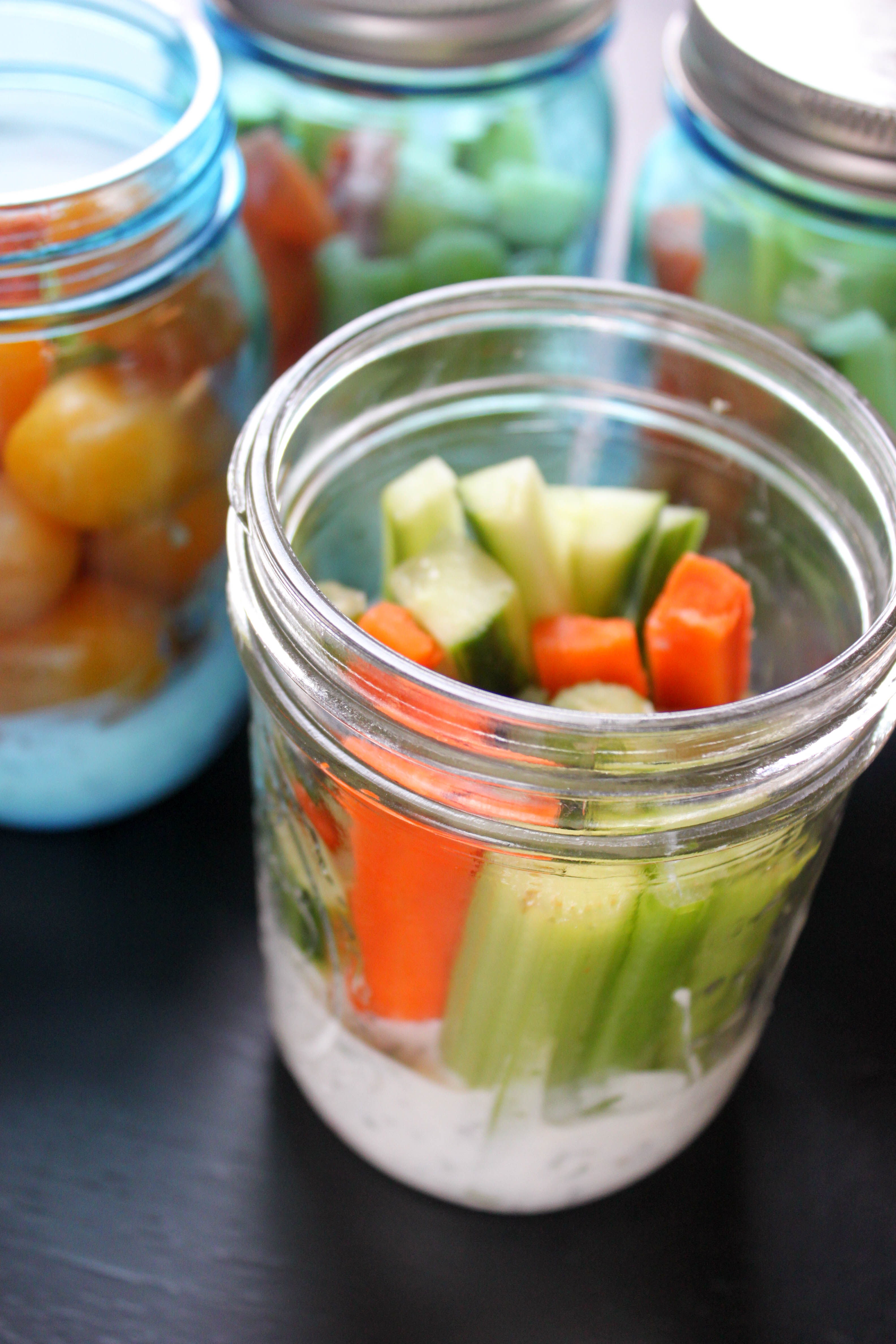 Veggies with Homemade, Healthy Ranch Dip