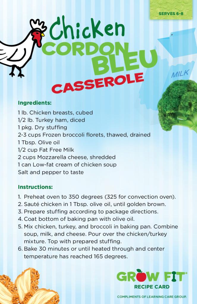 Chicken Courdon Bleu Casserole Recipe