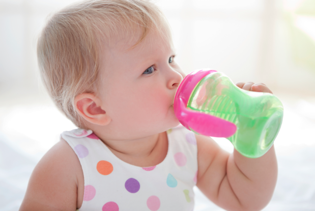 Toddler baby bottle transition to the sippy cup