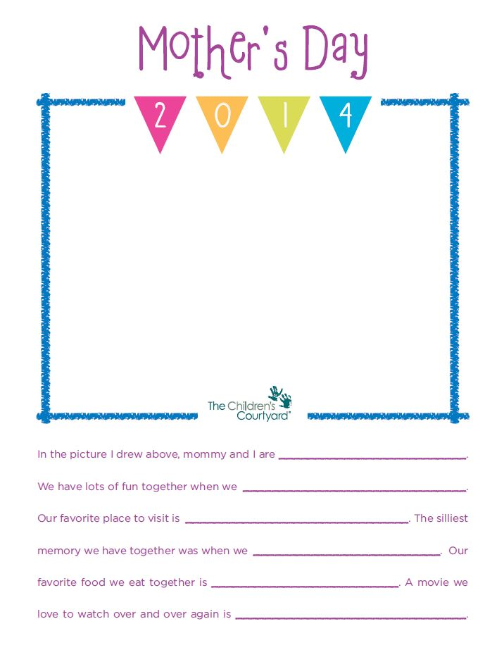 Mother's Day Activity for Boys