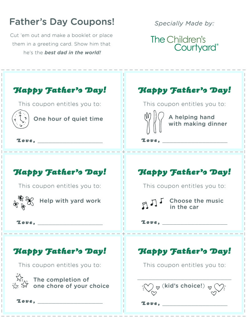 Father's Day Coupons