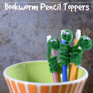 Bookworm Pencil Toppers