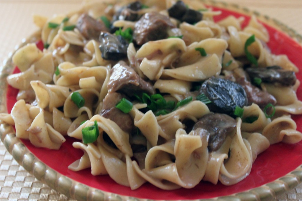 Healthy Beef Stroganoff Slow Cooker Recipe