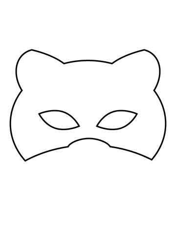 Free Children's Halloween Mask - Cat