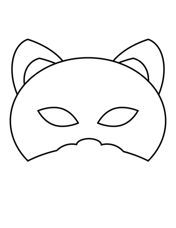free kids halloween cat mask