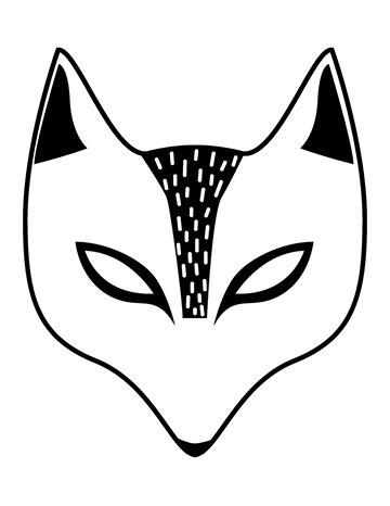 Free Kid's Halloween Mask - Fox Mask