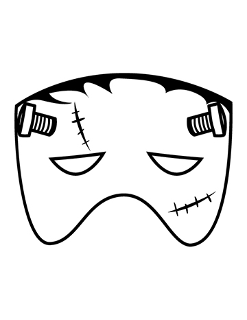 Free Kid's Frankenstein Halloween Mask