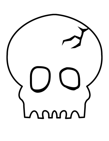 Free Children's Halloween Skull Mask