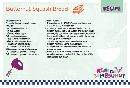 Easy Recipe for Kids - Butternut Squash Bread