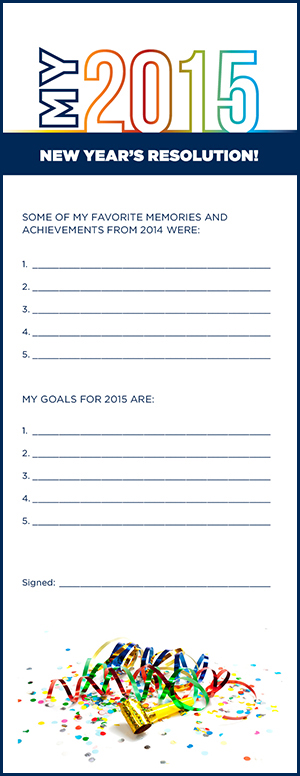 Printable New Year\'s Resolution Worksheet for Kids | La Petite Academy