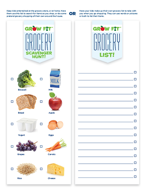 Free Printable Grocery Shopping List For Kids | La Petite Academy