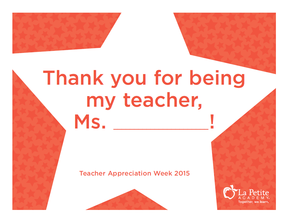 Teacher Appreciation Week Photo Prop