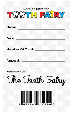 graphic regarding Free Printable Tooth Fairy Receipt known as Nationwide Enamel Fairy Working day Absolutely free Printable \u201cReceipt\u201d La