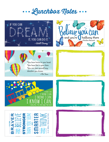 photo about Printable Lunchbox Notes named Printable Lunchbox Notes Offers for Little ones Tutor Period
