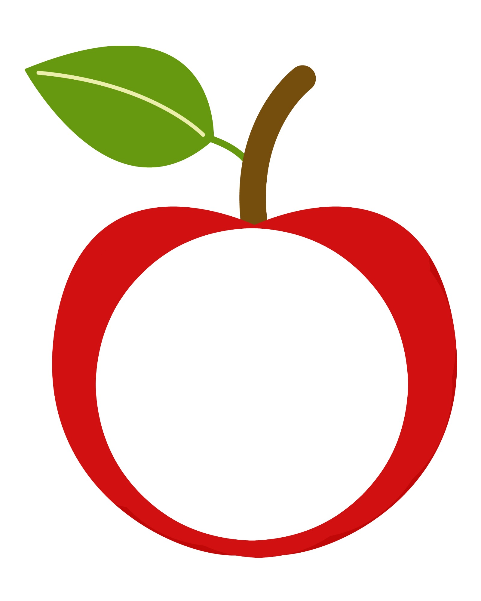 image relating to Printable Apple Template named Stained Gl Apple Craft La Pee Academy