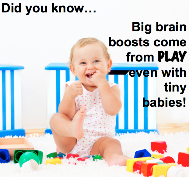 Playtime affects baby brain power